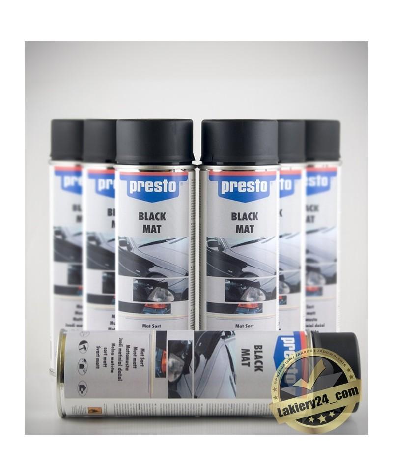 Motip Presto - Czarny lakier akrylowy spray 500ml 7 szt. w cenie 6 szt.