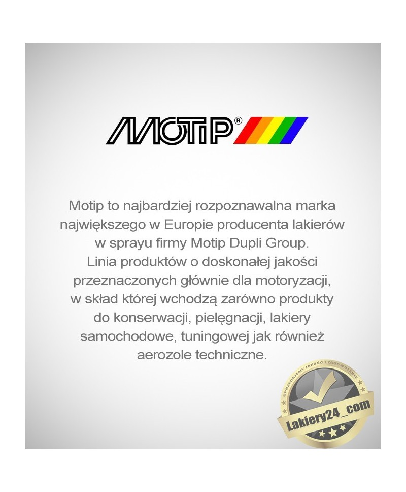 Profesjonalna struktura na naprawy plastików Motip Premium 1K - spray500 ml