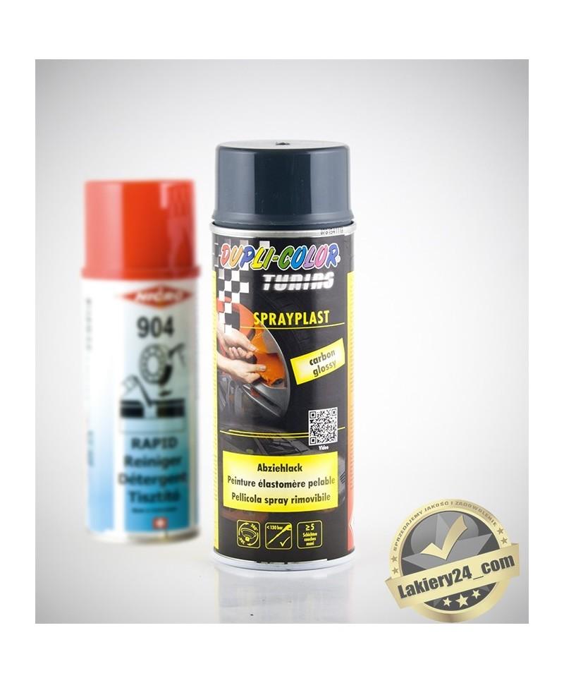 MoTiP Dupli - Płynna guma w sprayu 400ml + zmywacz Nicro