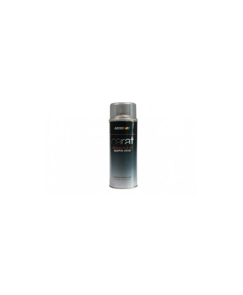 Lakier brokatowy srebrny brokat w sprayu Moto-K 400 ml