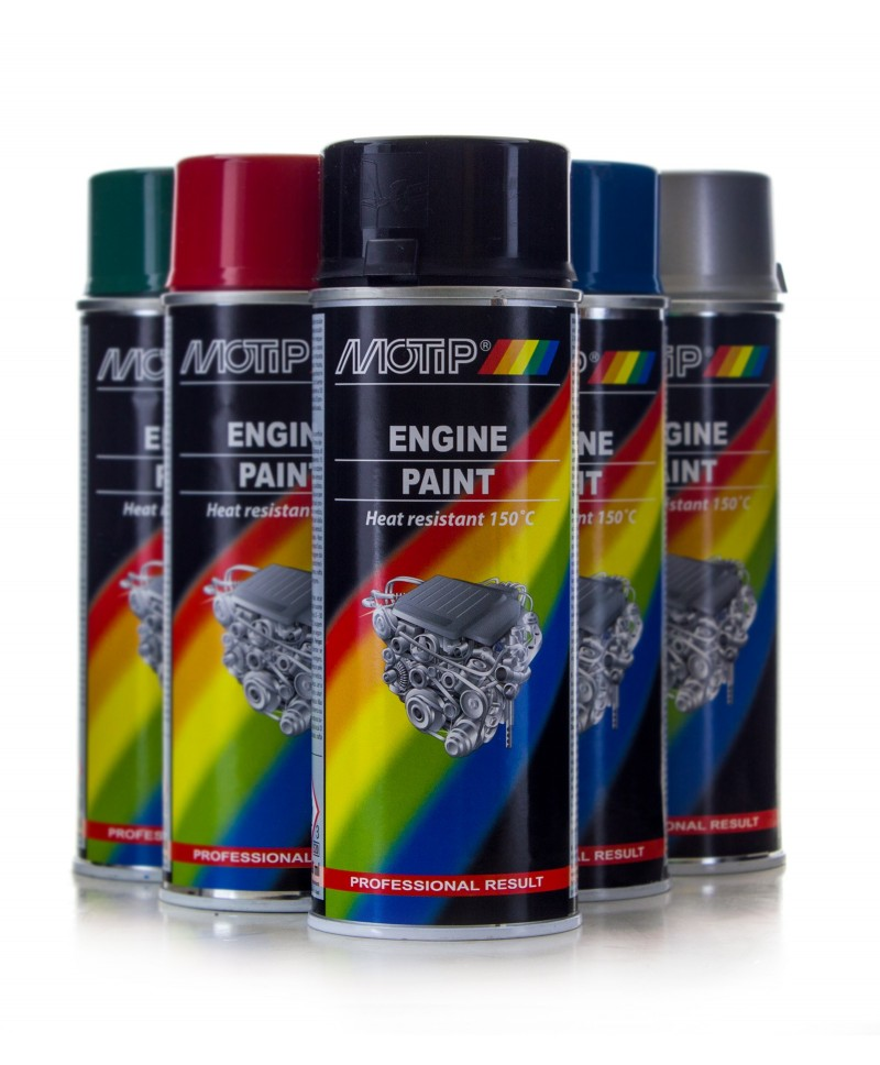 Profesjonalny lakier do malowania silnika Motip 400 ml