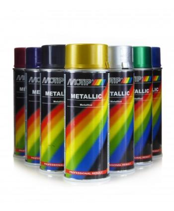 Motip - Lakier metaliczny metalik spray 400 ml - 7 kolorów