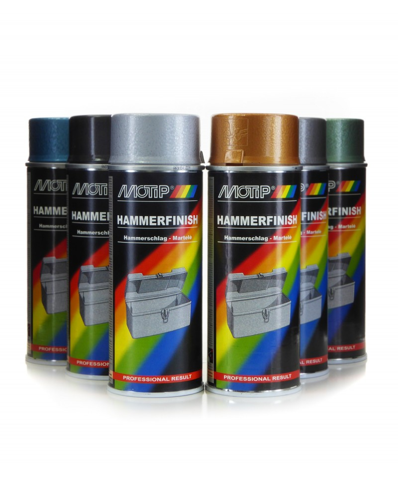 Lakier z efektem młotkowym Motip spray 400 ml - 6 kolorów