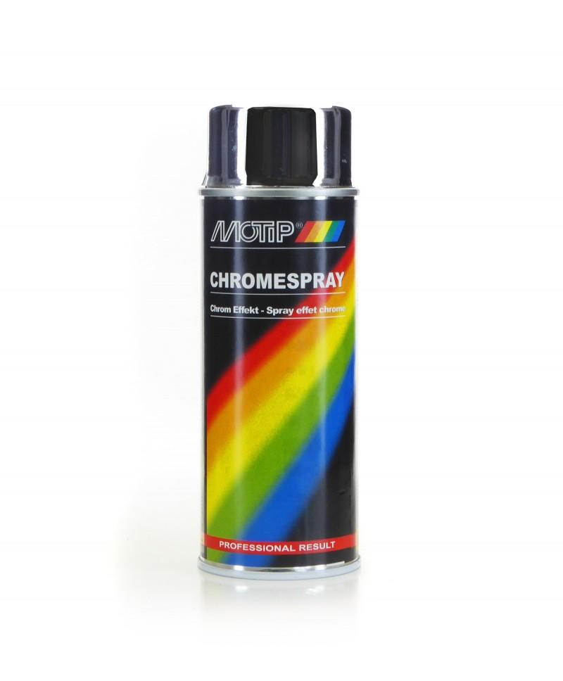 Chrom w sprayu, lakier z efektem chromu - Motip