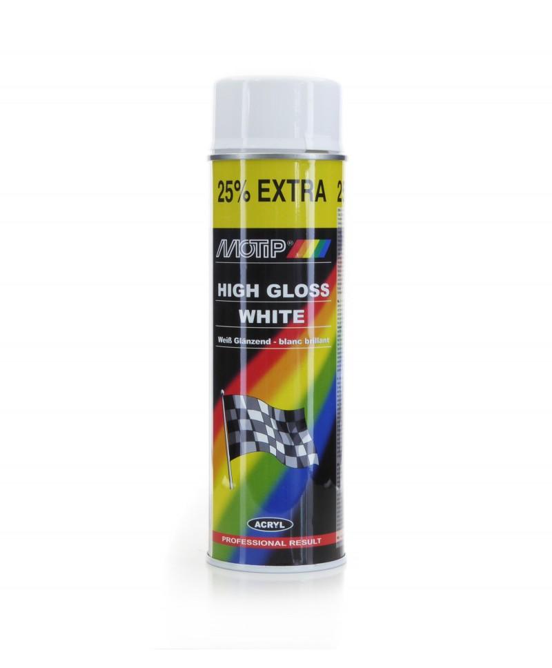 Motip - Profesjonalny biały lakier akrylowy wysoki połysk 500 ml