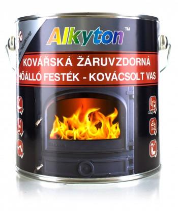 ALKYTON FARBA ŻAROODPORNA CZARNA GRAFIT 750°C 2.5L