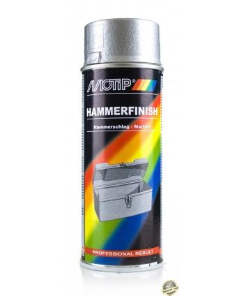 Motip - Srebrny lakier z efektem młotkowym spray 400 ml