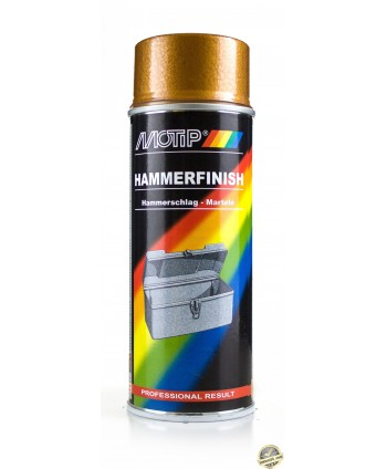 Motip - Złoty lakier z efektem młotkowym spray 400 ml