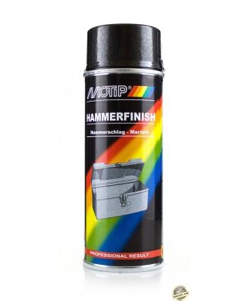 Motip - Antracytowy lakier z efektem młotkowym spray 400 ml