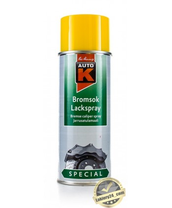 Auto-K - Żółty lakier do zacisków hamulcowych spray 400 ml