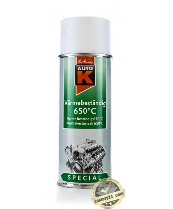 Auto-K Biały lakier żaroodporny spray 400 ml (650 st.C)